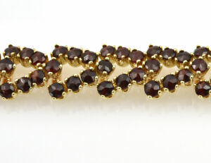 Granat Armband 18,50 cm 333/000 8 K Gelbgold