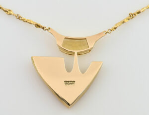 Lapponia Collier Citrin 585/000 14 K Gelbgold, 39 cm lang