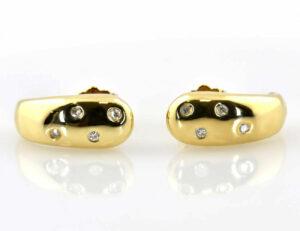 Ohrstecker 750/000 18 K Gelbgold 8 Diamanten zus. 0,10 ct