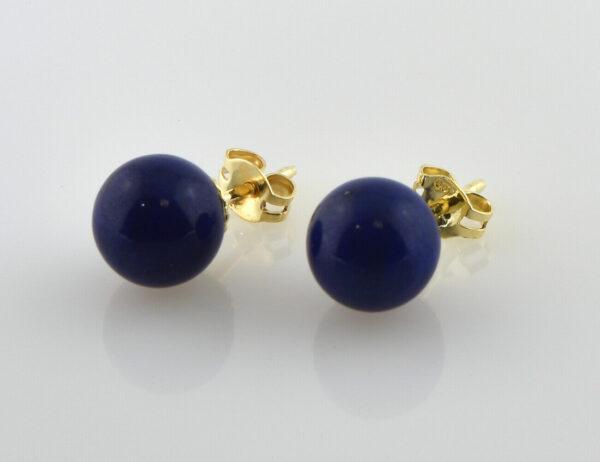 Ohrstecker Lapis Lazuli 585/000 14 K Gelbgold