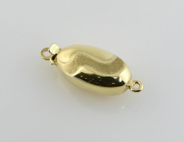 Perlenkettenschloß 585/000 14 K Gelbgold