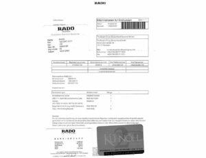 Rado Diastar Ceramics Quartz Herrenuhr mit Box und Papiere