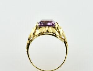 Ring Amethyst 585/000 14 K Gelbgold
