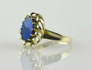 Ring Opal-Opal Triplette 585/000 14 K Gelbgold
