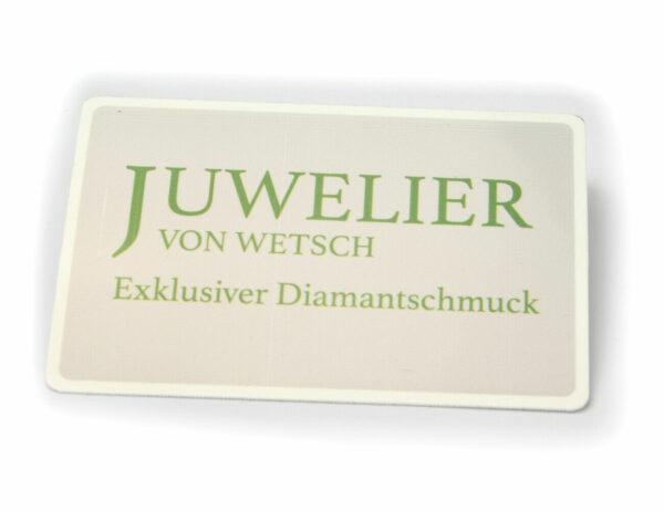 Solitär Diamantring 585/000 14 K Weißgold Brillant 0,06 ct