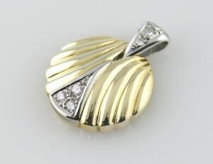 Anhänger-Diamant 585/000 14 K Gelbgold 3 Brillanten zus. 0,10 ct