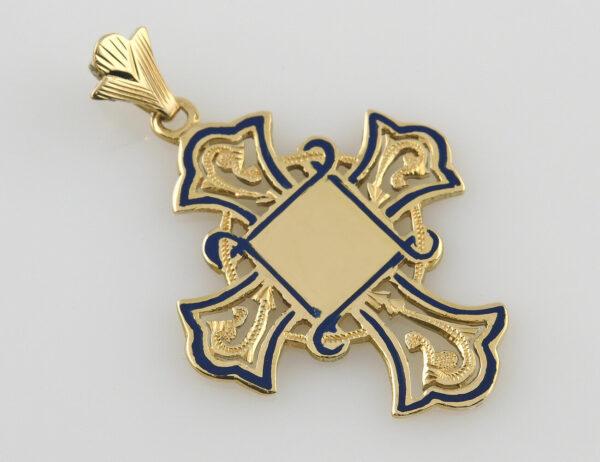 Anhänger Kreuz 750/000 18 K Gelbgold