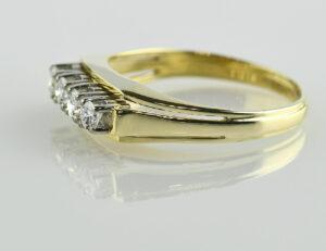 Diamant Ring 585/000 14 K Gelbgold 4 Brillanten zus. 0,50 ct
