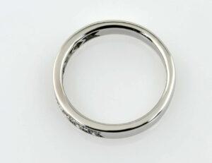Diamant Ring 590/000 14 K Weißgold 9 Brillanten zus. 0,20 ct