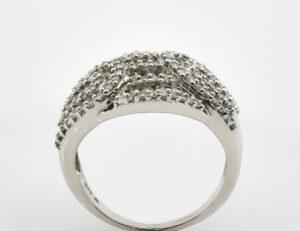 Diamantring 375/000 9 K Weißgold 168 Diamanten zus. 1,75 ct