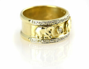 Diamantring 585 14 K Gelbgold 18 Diamanten zus. 0,22 ct