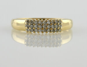 Diamantring 585 14 K Gelbgold 25 Diamanten zus. 0,30 ct