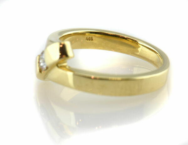 Diamantring 585 14 K Gelbgold Brillant 0,15 ct