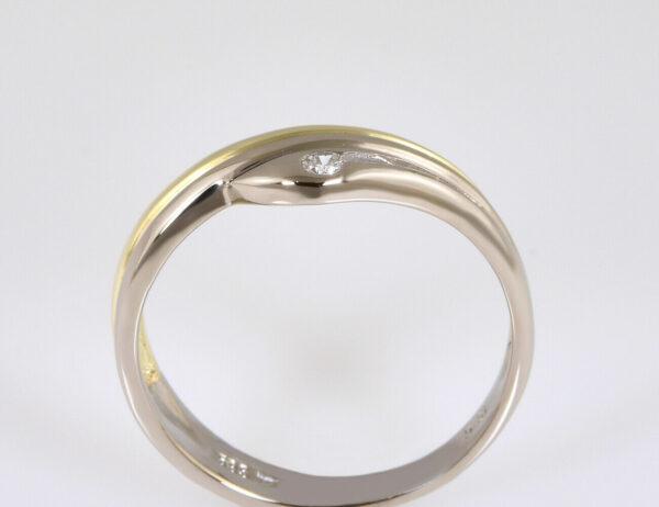 Diamantring 585/000 14 K Gelbgold 1 Brillant 0,05 ct