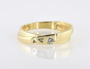 Diamantring 585/000 14 K Gelbgold 3 Brillanten zus. 0,11 ct