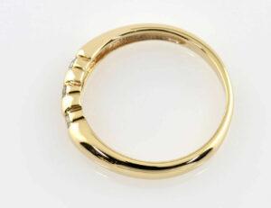 Diamantring 585/000 14 K Gelbgold 3 Brillanten zus. 0,14 ct