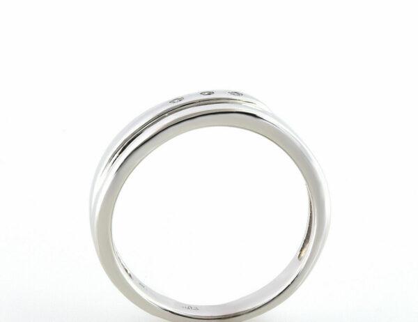Diamantring 585/000 14 K Weißgold 3 Diamanten zus. 0,03 ct