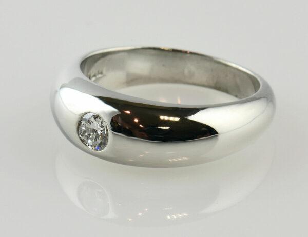 Diamantring Solitär 750/000 18 K Weißgold Brillant 0,14 ct