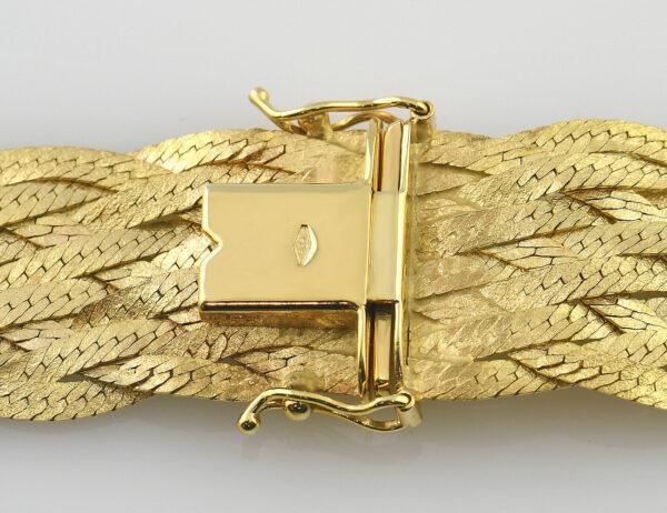 Geflochtenes Collier 585/000 14 K Gelbgold 42 cm lang
