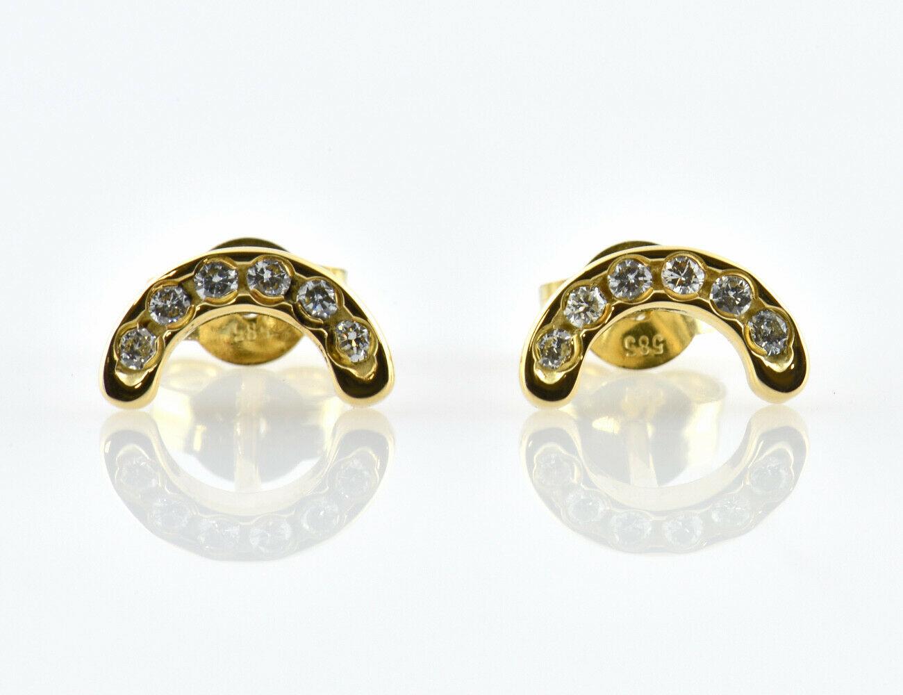 Ohrstecker 585/000 14 K Gelbgold 12 Diamanten zus. 0,12 ct