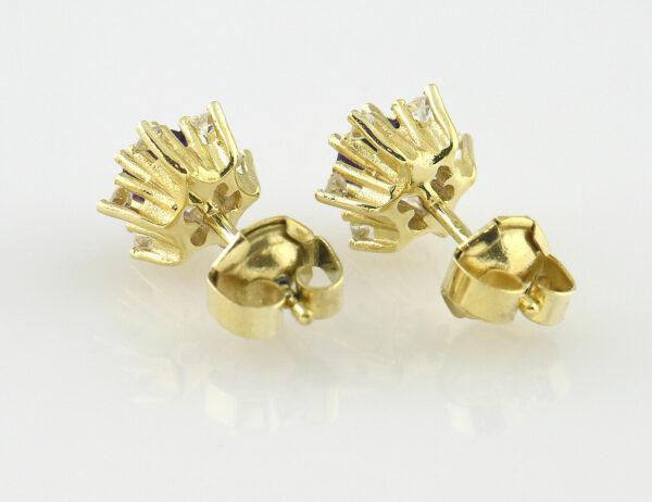 Ohrstecker Amethyst 585/000 14 K Gelbgold 12 Diamanten zus. 0,24 ct