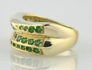 Smaragd Ring 585 14 K Gelbgold