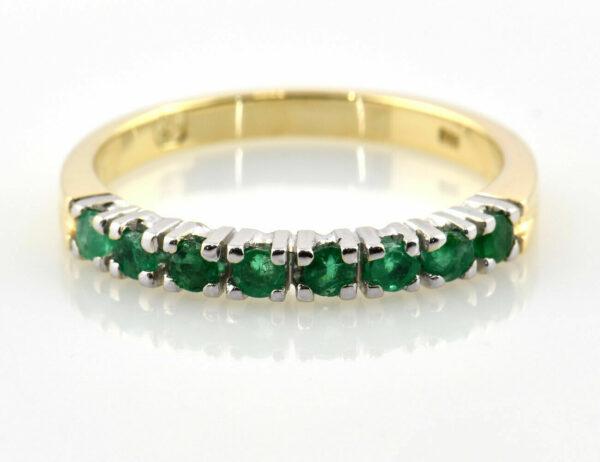 Smaragd Ring 585/000 14 K Gelbgold