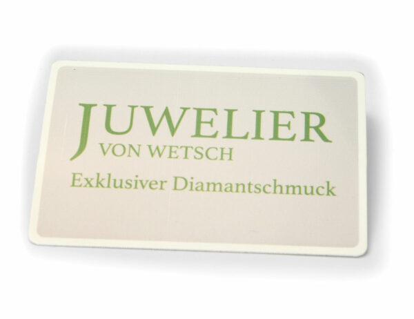 Solitär Brillant Ohrstecker Ohrringe 585 14 K Weißgold, 2 Diamanten zus. 0,17 ct