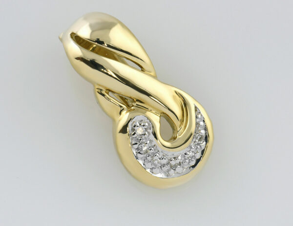 Anhänger 585/000 14 K Gelbgold 6 Diamanten zus. 0,03 ct