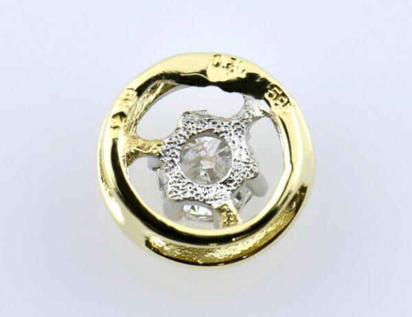 Anhänger Diamant 585/000 14 K Gelbgold 1 Brillant 0,30 ct