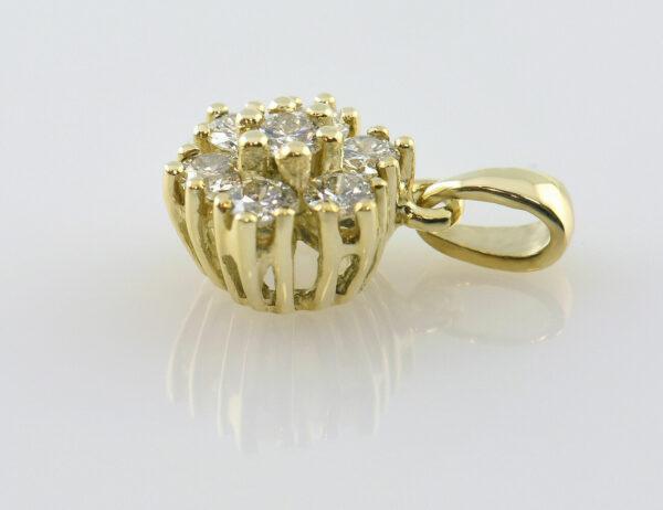 Anhänger Diamant 585/000 14 K Gelbgold 7 Brillanten zus. 0,35 ct