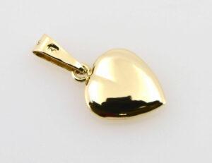 Anhänger Herz 585/000 14 K Gelbgold