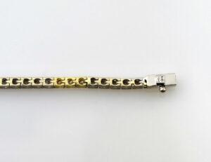 Armband 585/000 14 K Weiß-Gelbgold 15 Brillanten zus. 0,30 ct 18 cm lang