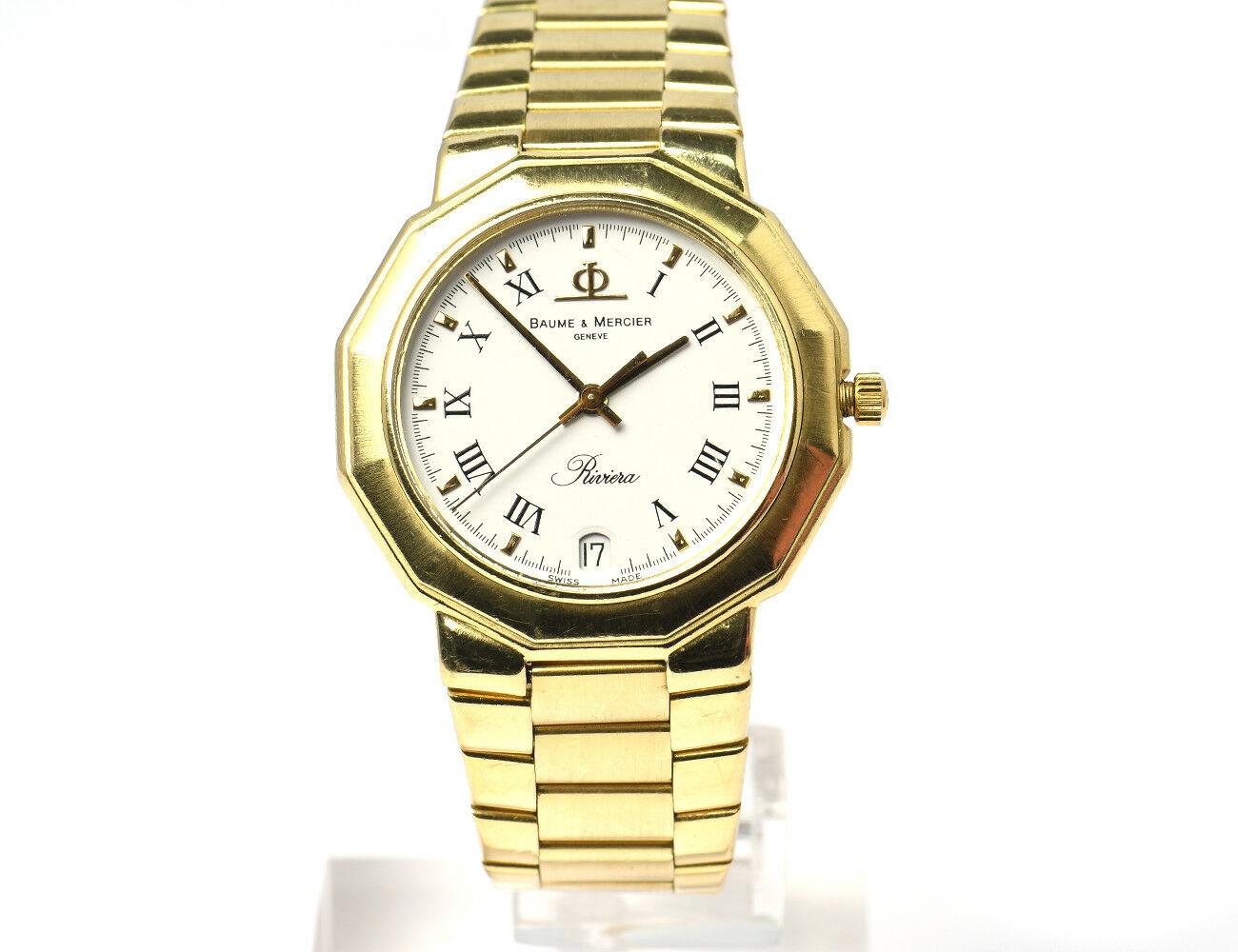 BAUME & MERCIER Riviera 750/000 18 K Gold Herrenuhr