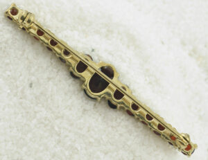 Brosche Granat 333 8 K Gelbgold