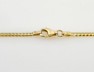 Collier 333/000 8 K Gelbgold Zirkonia, 45 cm lang