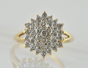 Diamant Ring 585 14 K Gelbgold 37 Brillanten zus. 0,35 ct