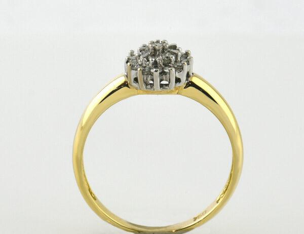Diamant Ring 750 18 K Gelbgold 18 Brillanten zus. 0,30 ct