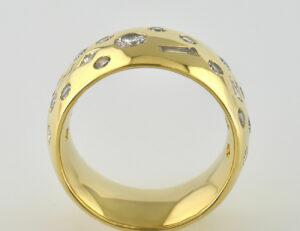 Diamant Ring 750/000 18 K Gelbgold 22 Diamanten zus. 1,00 ct