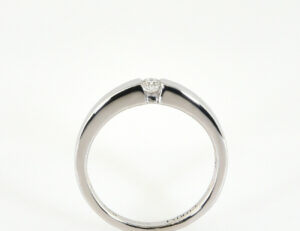 Diamant Solitär Ring 333/000 8 K Weißgold Brillant 0,10 ct