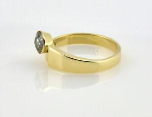 Diamant Solitär Ring 585/000 14 K Gelbgold Altschliffdiamant 0,70 ct