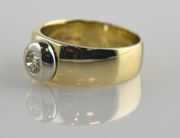 Diamant Solitär Ring 585/000 14 K Gelbgold Brillant 0,40 ct