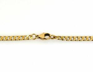 Kette Flachpanzer 333/000 8 K Gelbgold, 47 cm lang