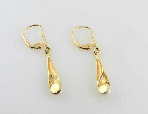 Ohrringe Hänger Zuchtperle 333/000 8 K Gelbgold