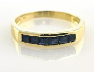 Saphir Ring 750/000 18 K Gelbgold