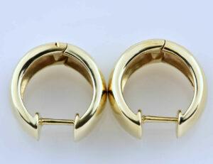 Scharniercreolen 585/000 14 K Gelbgold Ohrring