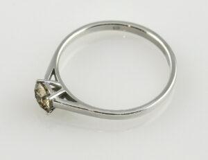 Solitär Diamantring 585/000 14 K Weißgold Brillant 0,54 ct