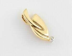 Anhänger 585/000 14 K Gelbgold 1 Diamant 0,015 ct