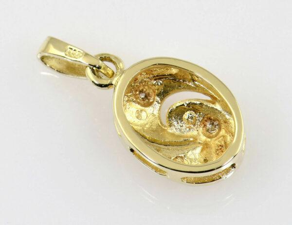 Anhänger 585/000 14 K Gelbgold 3 Diamanten zus. 0,03 ct