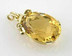 Anhänger Citrin 585/000 14 K Gelbgold